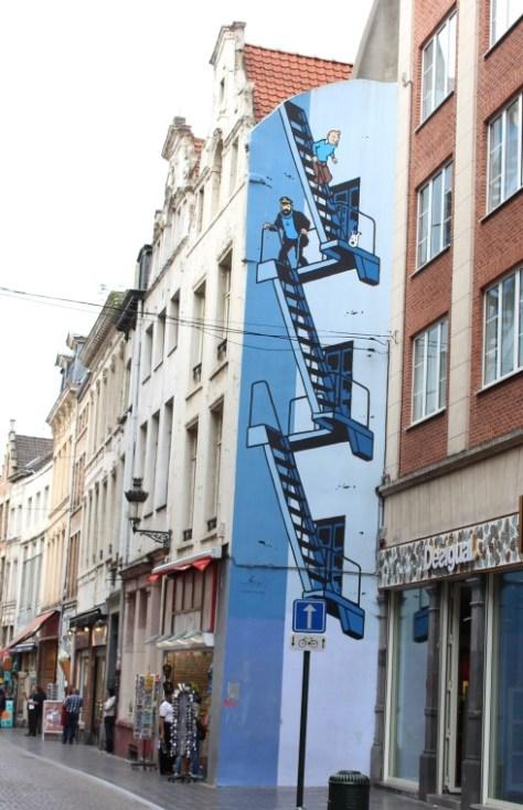 Comic Strip Mural: The Adventures of Tintin